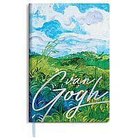 "Ежедневник недатированный B6, 136л., кожзам, Greenwich Line ""Vision. Van Gogh. Fields"""