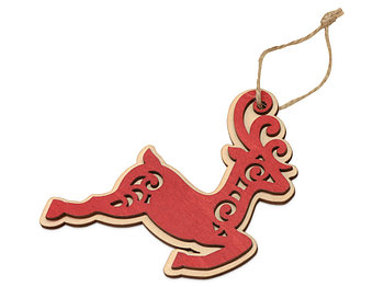 Подвеска деревянная Рождественский олень