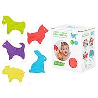 Roxy: Антискользящие мини-коврики ROXY-KIDS Animals для ванны, 15шт. в уп.