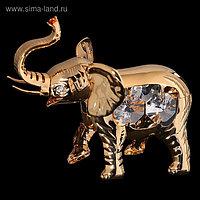 Сувенир «Слон», 9×4,5×7 см, с кристаллами Сваровски