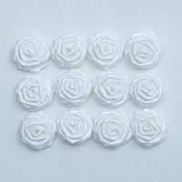 Набор роз для украшения свадебных машин, D=5 см,12 шт, белый