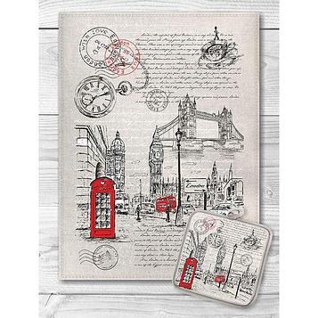 Кухонный набор «Лондон» (полотенце 45х60+прихватка 18х18)