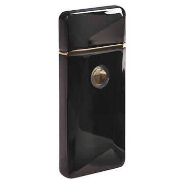 Зажигалка электронная, USB, спираль, чёрная с выпуклым рисунком, 7.5х12 см