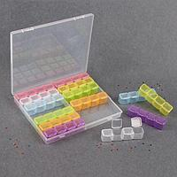 Контейнер для декора, 14 блоков, 4 ячейки, 21 × 17,5 × 2,7 см, цвет разноцветный