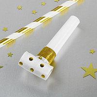 Карнавальный язычок «Горох», набор 10 шт., цвет золотой