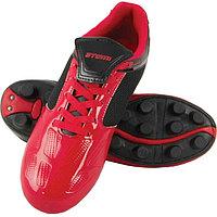 Футбольные бутсы, цвет красно-чёрный, синтетическая кожа, размер 34