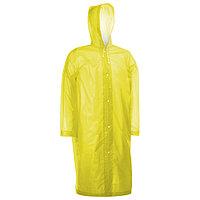 Дождевик-плащ взрослый размер 46-48, цвет жёлтый