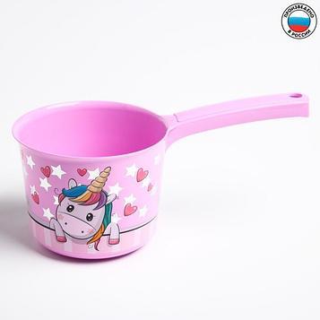 Ковш для купания детский 1,5 л., ДЕКО, «Единорог»