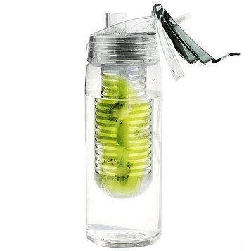 Бутылка для воды Flavour It 2 Go, 600 мл, серая