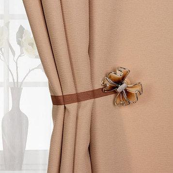 Подхват для штор «Бант», 6 × 5 см, цвет коричневый