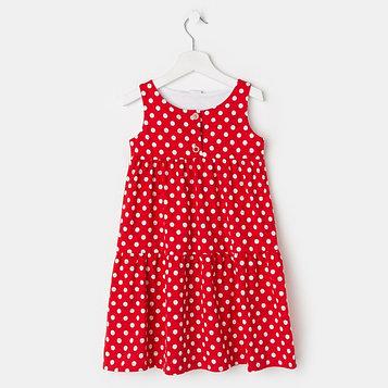 Платье «Юленька», цвет красный, рост 98 см