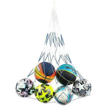 Сетка для переноски мячей (на 6 мячей), нить 2,5 мм, цвета МИКС
