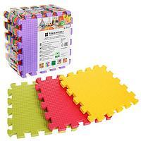 Детский коврик-пазл 'Радуга' (мягкий), 9 элементов, толщина 1,8 см, термоплёнка