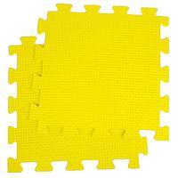 Детский коврик-пазл, 1 x 1 м, жёлтый