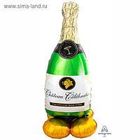 """Шар фольгированный 62"""" фигура """"Шампанское"""" 1207-4103"""