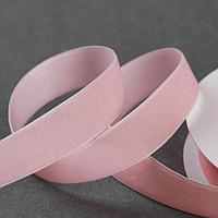 Лента бархатная, 20 мм, 18 ± 1 м, цвет розовый 08