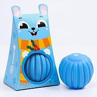 Развивающий массажный рельефный мячик 'Зайка', 1 шт.
