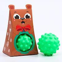 Развивающий массажный рельефный мячик 'Мишка', 1 шт.