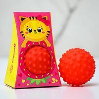 Развивающий, массажный, рельефный мячик 'Кошечка', цвета и формы МИКС