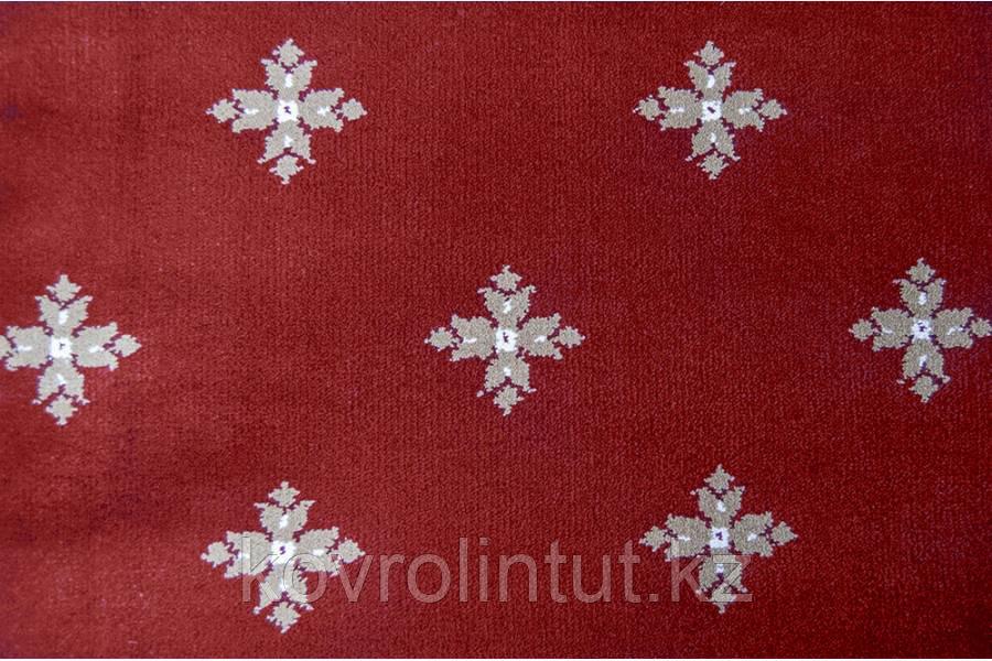 Ковролин Atlas  2702 8 41355 Красный с крестами  (9мм)  4,0м