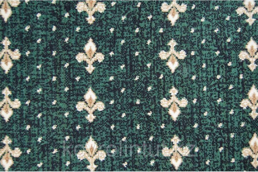 Бытовой ковролин Berber - Luiza 3601 8 20455 4м зеленый с лилиями