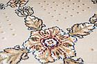 Бытовой ковролин Украина Boston Heat Set 100% PP 25105-110 Бежевый/цветы в орнаменте 4,0м, фото 2