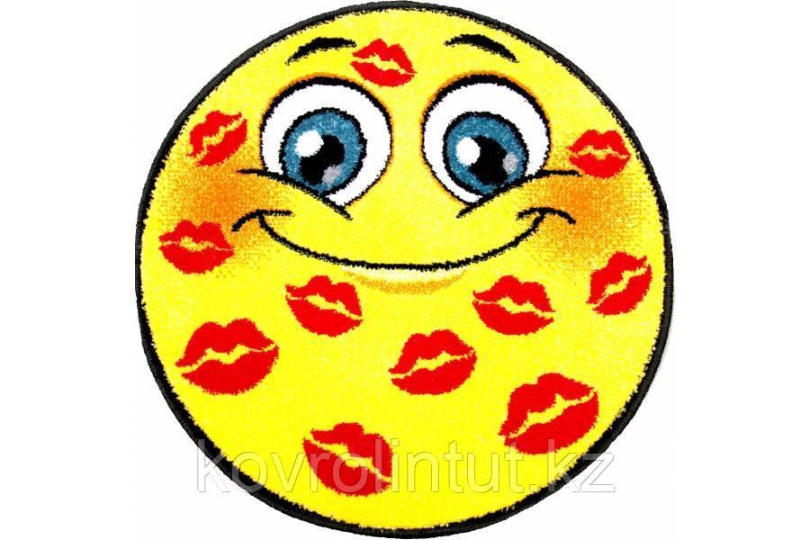 Детский коврик 0,80 х 0,80 Круглый 11085/150 Смайлик поцелуй