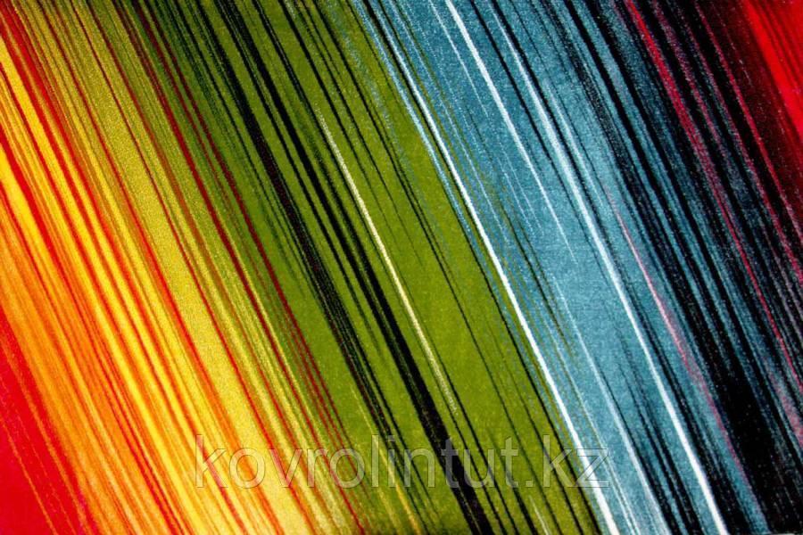 Ковёр Украина KOLIBRI FRIZE 11009/130 1,6м х 2,3м Радужные линии