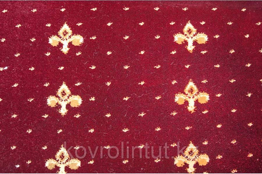 Ковролан Atlas 157-8-41355, красный с лилиями, 4м