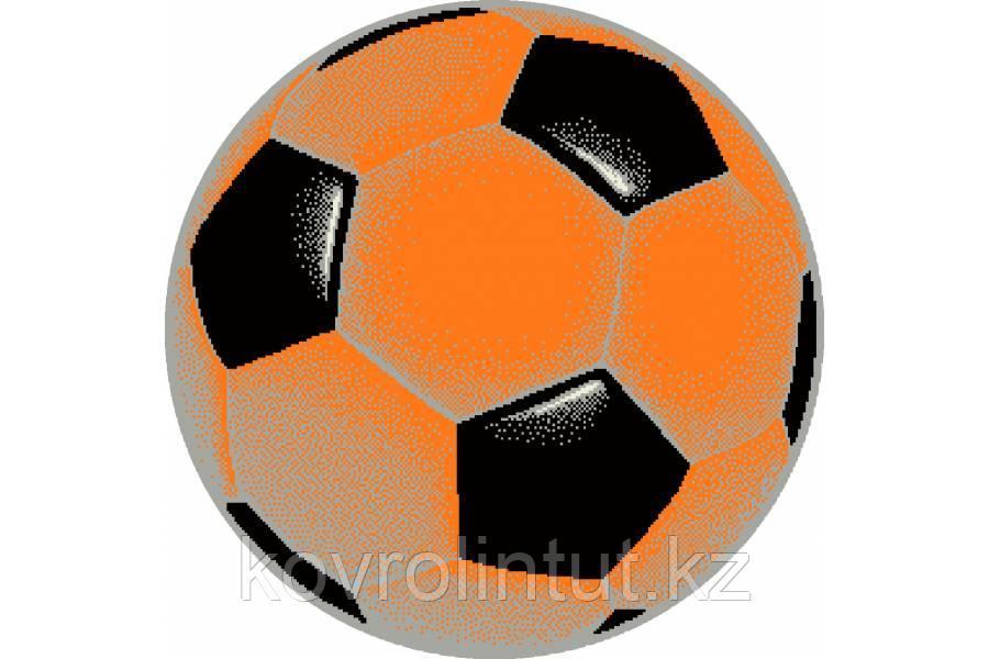 Детский коврик 0,67 х 0,67  Круглый  11198/160  Оранжевый футбольный мяч