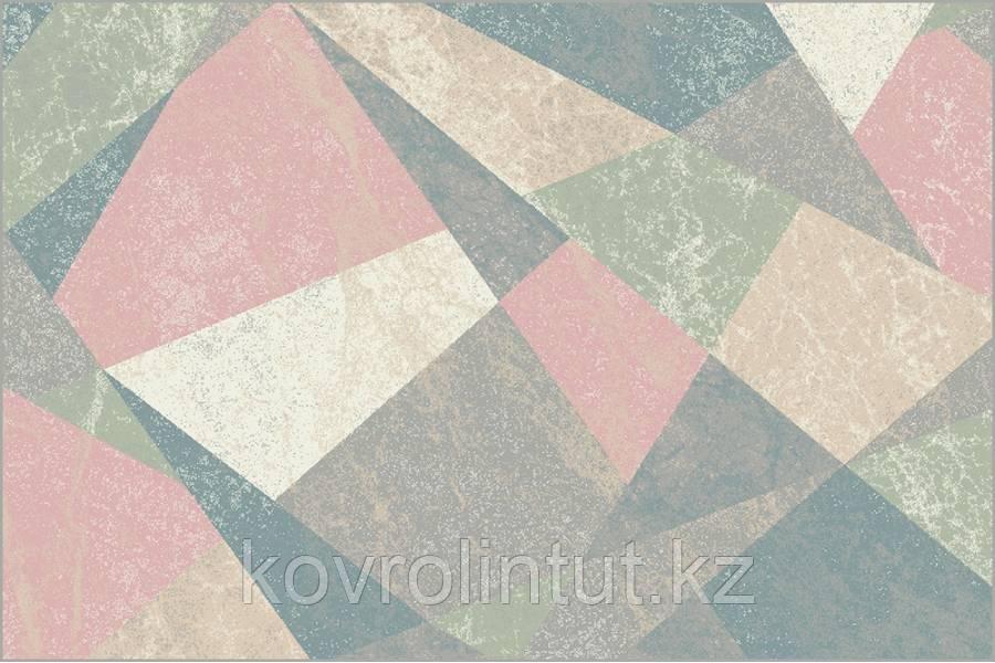 Ковёр  Украина DREAM 2,0х30  18023/120 Розово-голубые треугольники