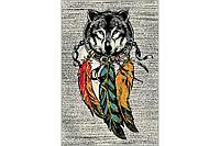 Ковёр Украина KOLIBRI FRIZE 1,6х2,3 11606/110 Ловец снов волк