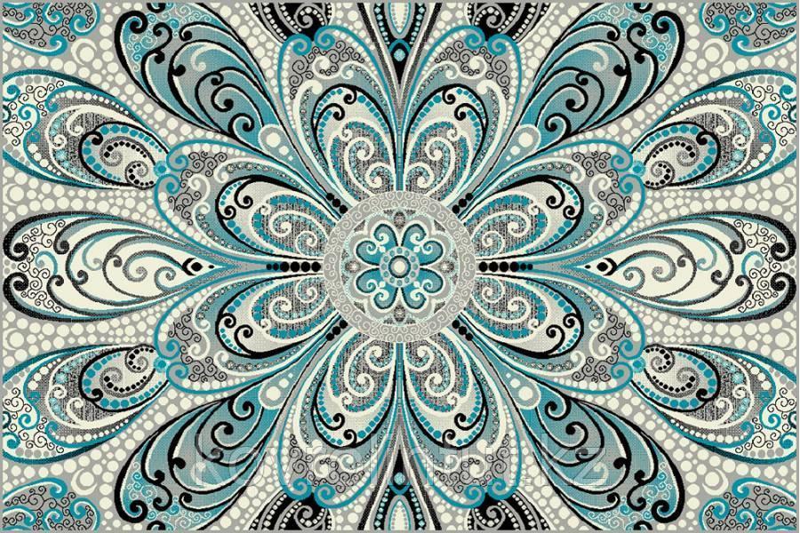 Ковёр  Украина KOLIBRI  FRIZE 11215/190 2,0 х 3,0  Серо-голубой орнамент