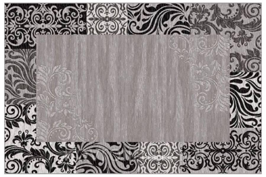 Ковёр  Украина SONATA   22014/160 2,0 х 3,0   Серый чёрный орнамент