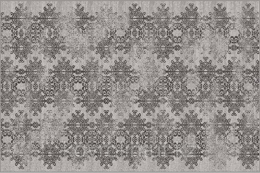 Ковёр  Украина SONATA   22015/160 2,0 х 3,0   Серый чёрные снежинки