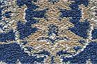 Ковролин Atlas 160 8 41311 Синий с узором (9мм) 4,0м, фото 2