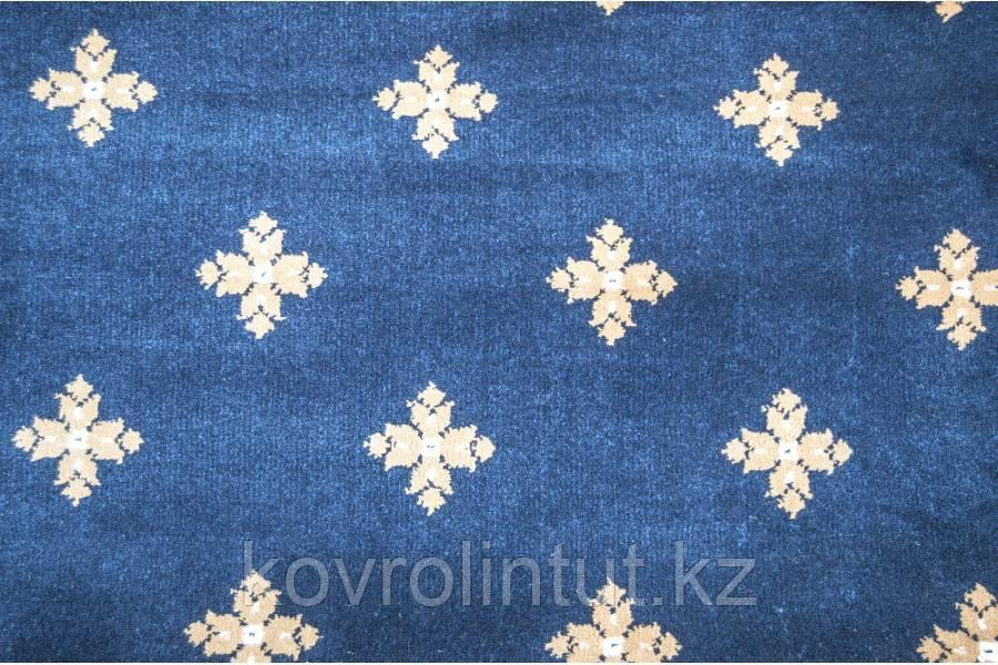 Ковролин Atlas  2702 8  41311 Синий с крестами  (9мм)  4,0м