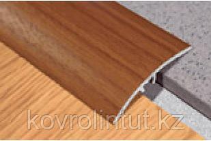 Планка прижимная 41мм 1,8м с потайным крепление дуб,орех