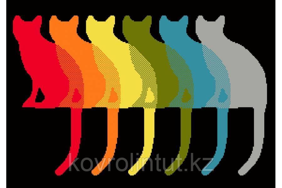 KOLIBRI (Коврик)  05*08 11096/180 Коты разноцветные