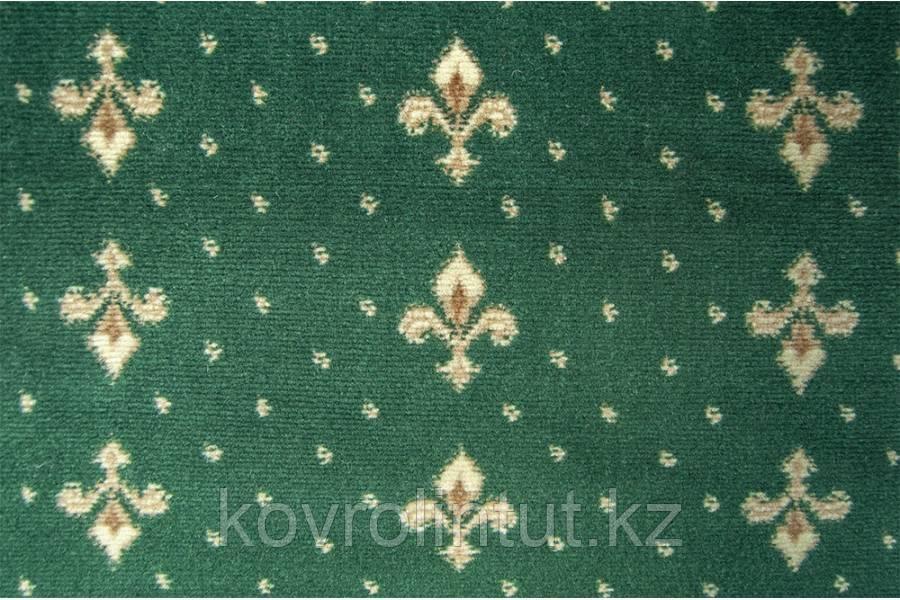 Бытовой ковролин  Berber - Luiza  3601 8 20444   4м зеленый с лилиями