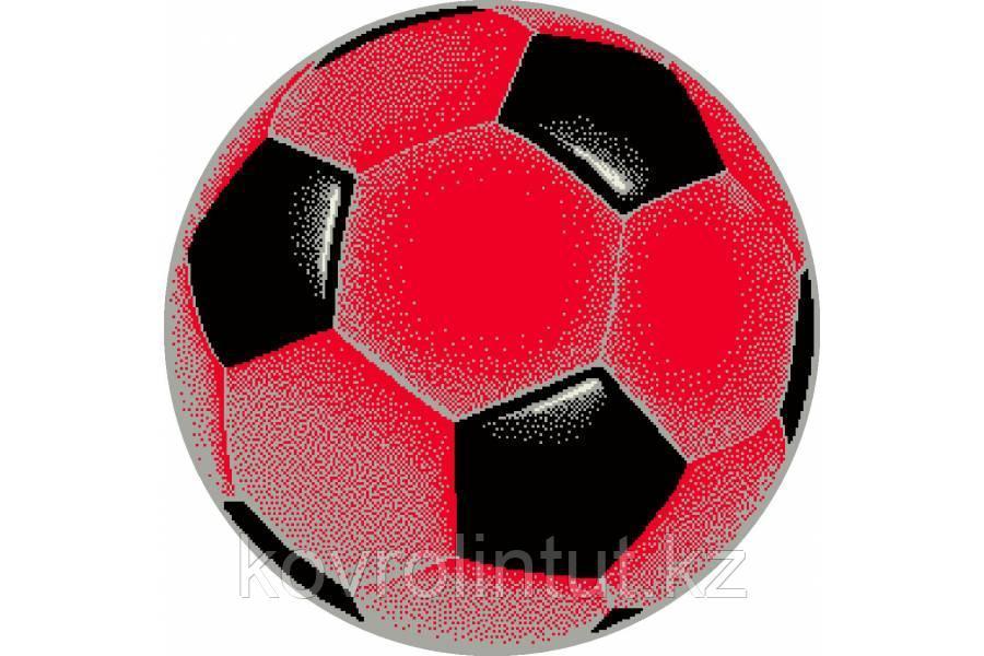 Детский коврик 0,67 х 0,67  Круглый  11198/120  Красный футбольный мяч