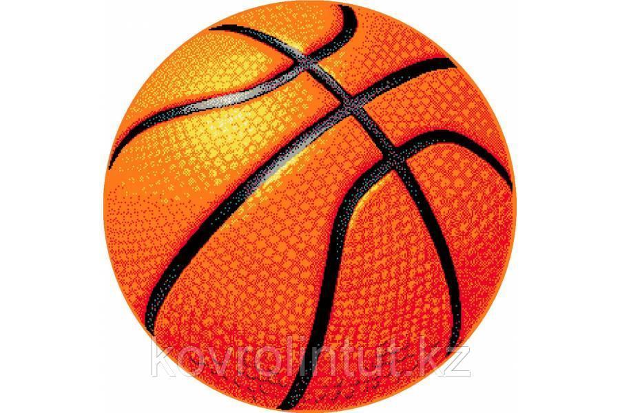 Детский коврик 0,67 х 0,67  Круглый  11189/160  Баскетбольный мяч