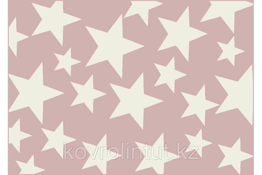 Ковёр  Украина DREAM 1,60 х 2,30  18003/121 Розовый Белые звёзды