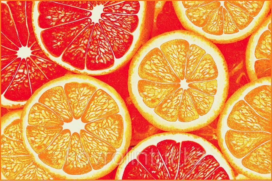 Ковёр  Украина KOLIBRI  FRIZE  1,2х1,7  11346/160 Красный апельсин