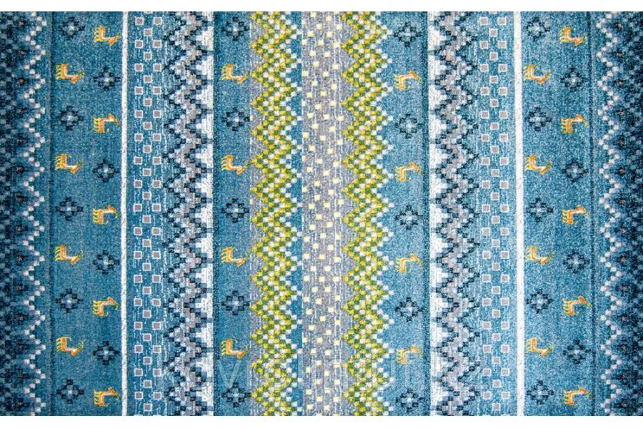 Ковёр  Украина KOLIBRI  FRIZE  1,6х2,3  11270/140 Голубой народное творчество