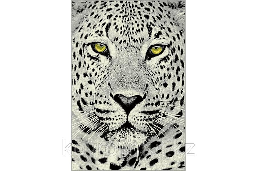 Ковёр  Украина KOLIBRI  FRIZE  1,6х2,3  11368/190 Белый леопард