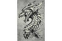 Ковёр Украина KOLIBRI FRIZE 1,6х2,3 11611/190 Серый Тату Дракон