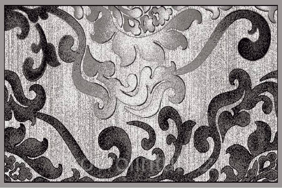 Ковёр  Украина SONATA  22001/160 2,0 х 3,0  Серый  тёмно-серый орнамент