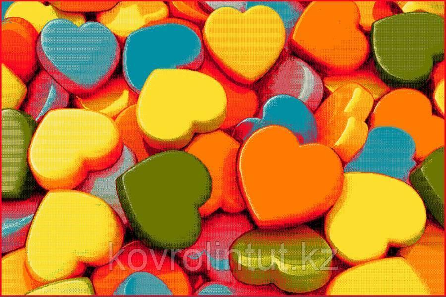 Ковёр KOLIBRI FRIZE 11021/150 2,0м х 3,0м Сердечки 3D