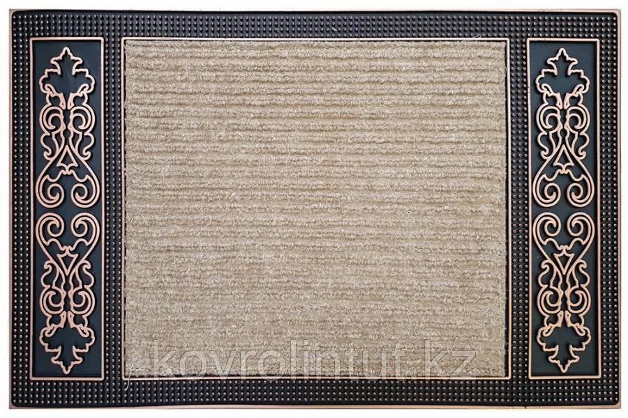 "Коврик EHOME  5095 0,45м Х 0,70м Бежевый с  резиновой каймой ""орнамент"""